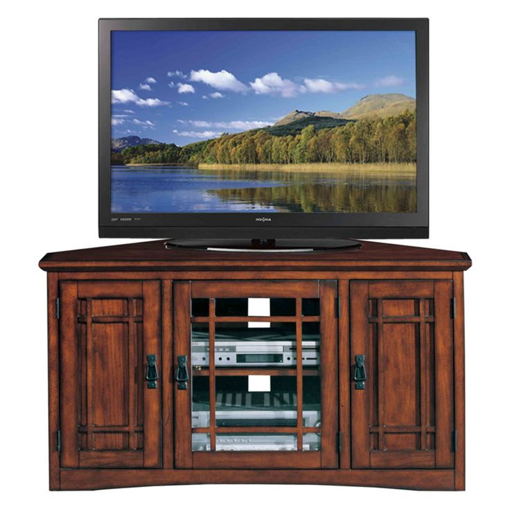 Leick 82385 Riley Holliday Mission 46 in. Corner TV Console with Storage - 82385