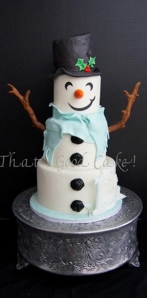 Snowman cake                                                       …