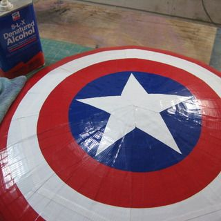 Captain America Shield using duct tape and cardboard