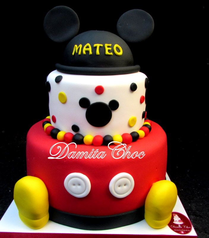 #mickey #party #cake #candy #gumpaste