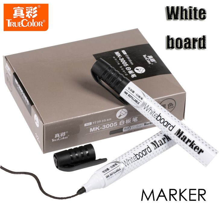12pcs/The Whiteboard Pen Set Can Add Ink Easy Brush Bulky Volume Suits Copic Markers High Quality Stationery Office Supplies