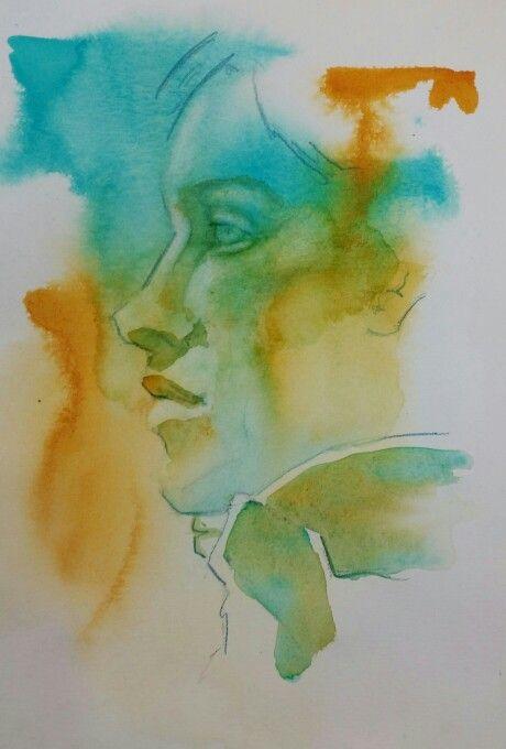 Subtractive watercolour demo
