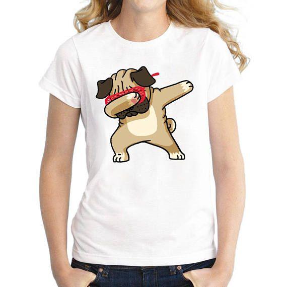 Cool Pug Shirt Women T Shirt Short Sleeve t-shirts Tops