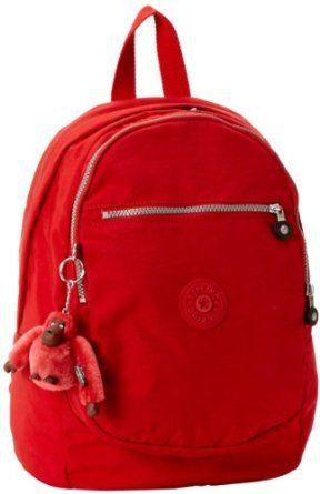Kipling Challenger Medium Backpack,Red,One Size,