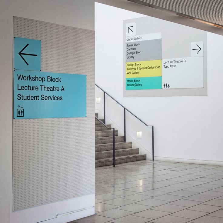 LCC Wayfinding by Pentagram | This is where I went to grad school! Wish it had been done while I was there.