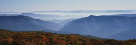 Fog over Hills, Dolly Sods Wilderness, Monongahela National Forest, West Virginia,