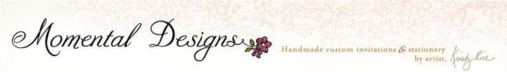 Handmade custom save the date cards | Momental Designs – Unique Handmade Wedding Invitations, Custom Invitations by Artist, Kristy Rice