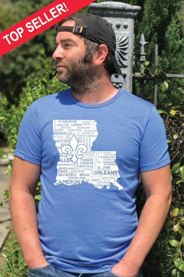 *Louisiana Parish Tee Uni-Sex T-Shirt