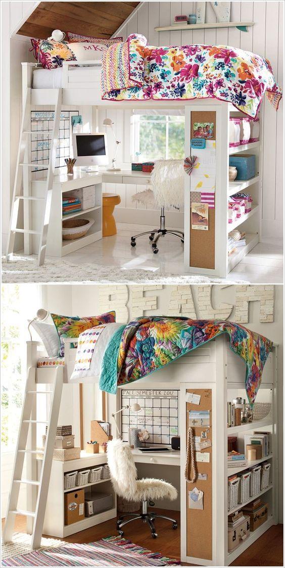Schon Ideen Für Kleine Kinderzimmer Und Jugendzimmer. Einrichtung Und Dekoration  Mädchen Girls Kinderzimmer. DIY Möbel