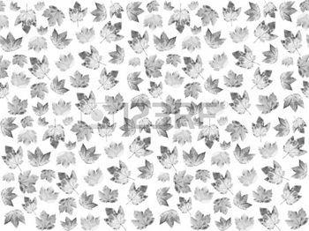 rouw%3A+seemless+patroon+met+esdoorn+bladeren+in+zwart+en+wit.+Mourning+achtergrond