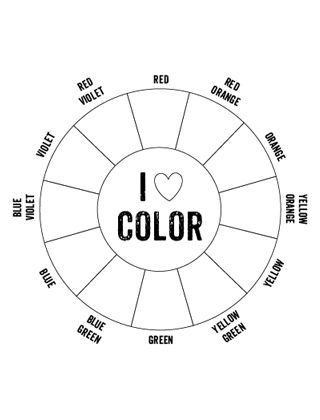 Printable Color Wheel  -- would be a fun invitation for kids to mix their own paint colors...