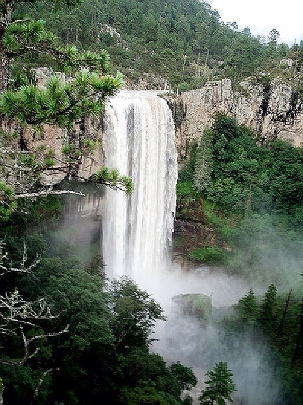 Waterfall in the state of Durango, ,Mexico