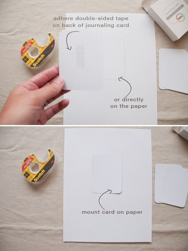How to print on journaling cards. SO simple! Why didn't I think of that? I used to get frustrated trying to send 3x5s through the printer.