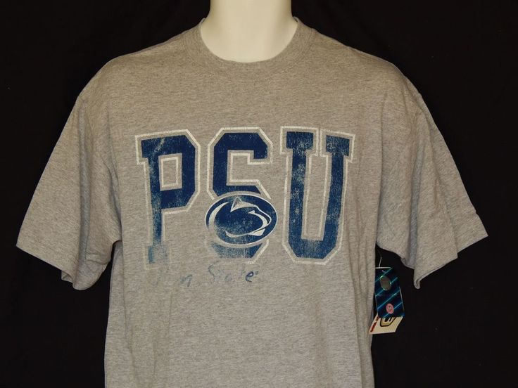 Penn State Nittany Lions Tee Shirt MENS Sizes NCAA Team Apparel PSU Logo Gray…
