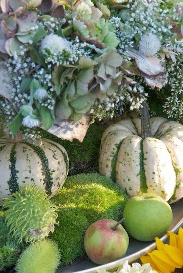 zöld őszi asztal körtével és tökkel (5)