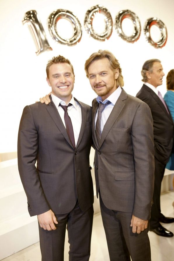 Stephen Nichols and Billy Miller celebrate The Young and the Restless' 10,000th episode! #YR10000, #YR