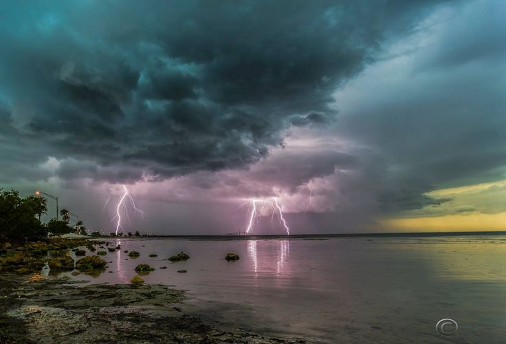 Severe warned storm this evening over St Petersburg, Florida with some lightning actually hitting the Sunshine Skyway Bridge. Canon 6d, 19mm, ISO 100, f6.3, 1/5 of a second