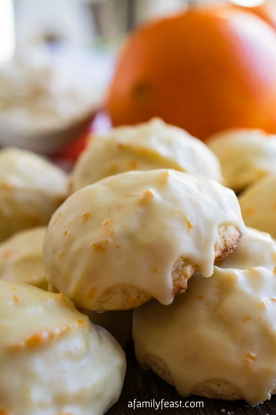 Orange Ricotta Cookies ~ via A Family Feast ~ A classic Italian cookie that is moist and cake-like with a distinctive orange flavor. So delicious!