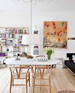 white + wishbone chairs
