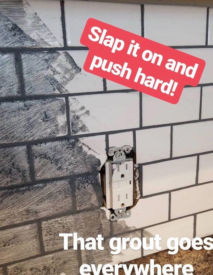 $100 DIY Subway Tile Back Splash Kitchen Project