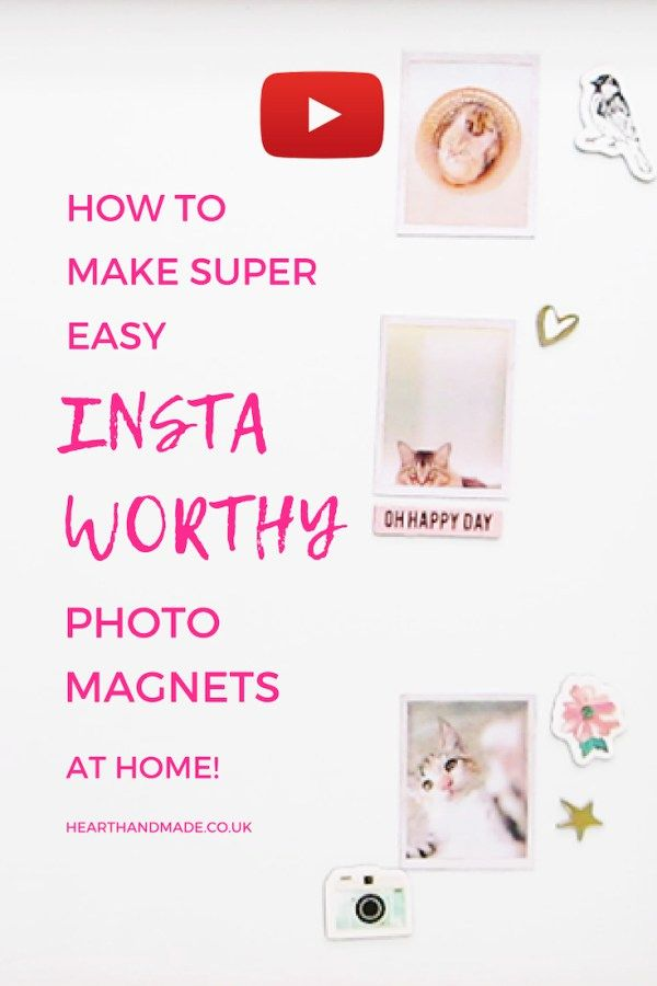 15 Minute Make How To Make Insta Worthy Photo Magnets At Home