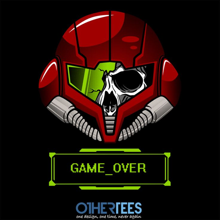 Game Over Lady by loki03 Shirt on sale until 27th Feb on http://othertees.com #gaming #metroid