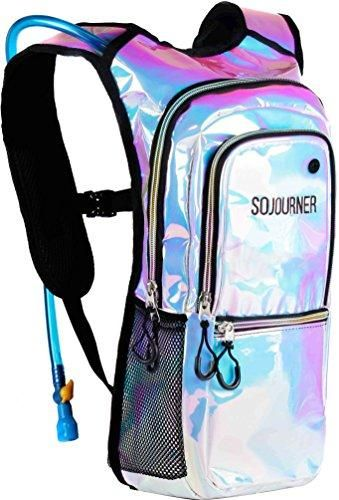 5c330c3c39 Hydration Backpack Holographic Metallic EDM Water Bag. * Sojourner Bags  Metallic Rave Blue*