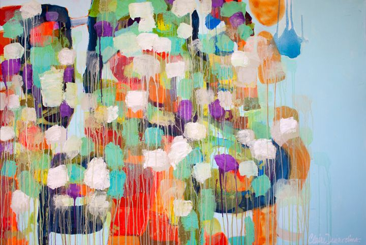 """Vanity Profanity"" by Claire Desjardins. 72""x48"" - Acrylics on canvas."