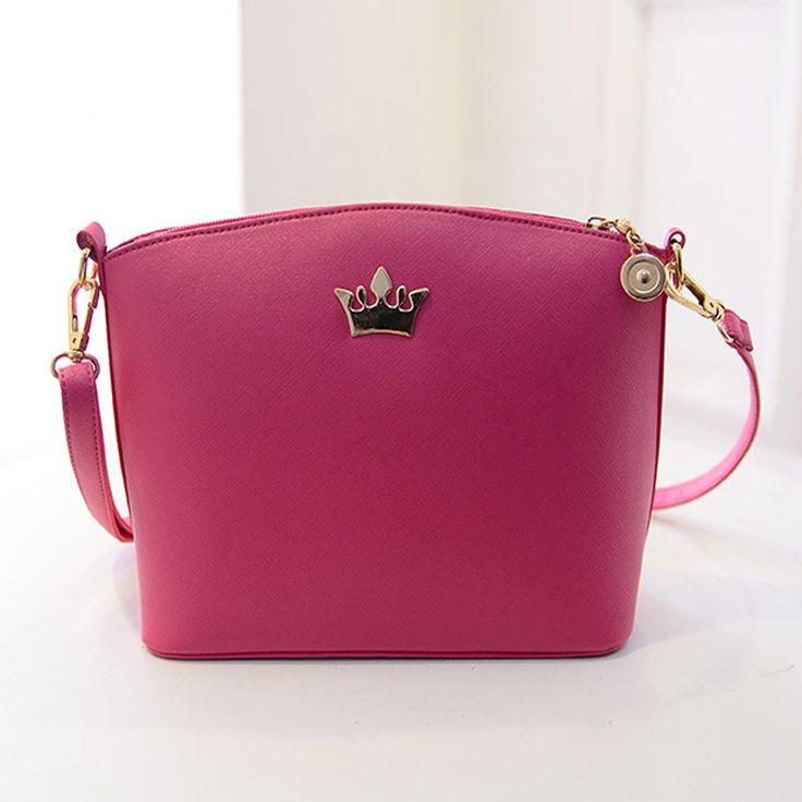Bolsos de hombro del partido bolso de moda carta cuero de la PU del embrague bolsas de mensajero con una corona bolsas colgajo alta calidad(China (Mainland))