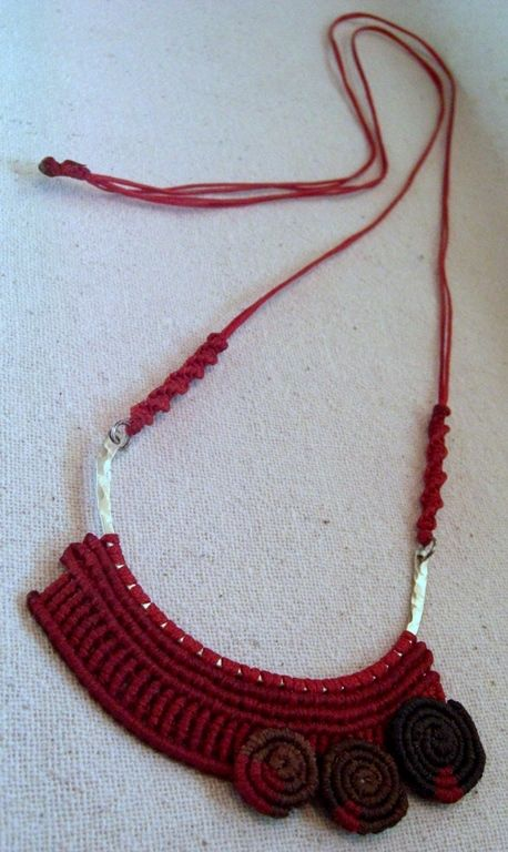 Macrame necklace.