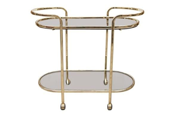 The Watson Brass Bar Cart Something Vintage Vintage Bar Carts Farm Dining Table Brass Bar Cart Antique brass bar cart