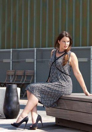 exelle black-white summer dress