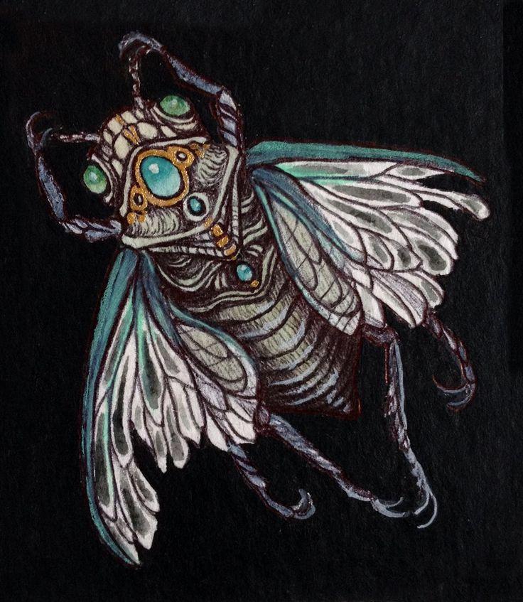 Cicada illustration 2014 by Caitlin Hackett