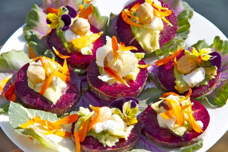 26 best edible flower canap s images on pinterest edible for Edible canape spoons
