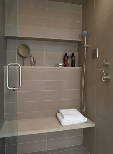 I want this type of shelf against the side wall of the shower.