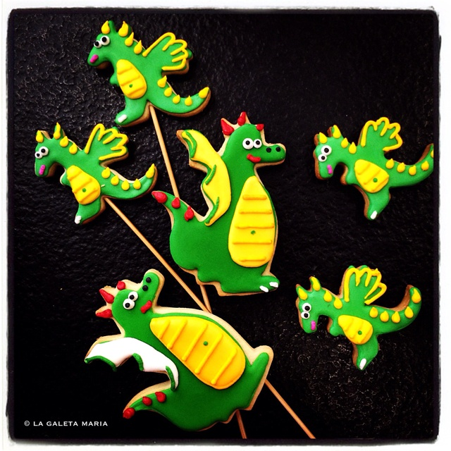 dracs de sant jordi... cookie dragons...