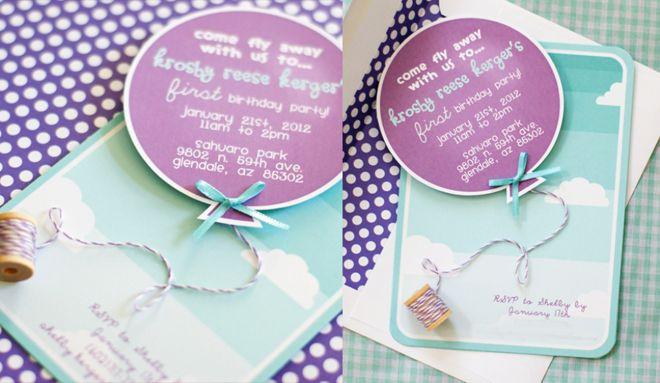balloon party...link to free download of this DIY invitation {girl and boy versions}
