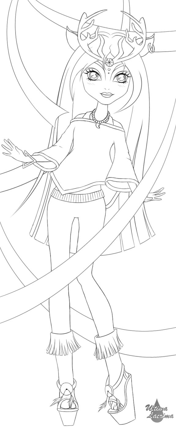 Isi Monster High LINEART by cheetah1990 on DeviantArt