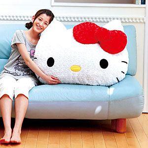 giant hello kitty pillow!! I.WANT.THIS.