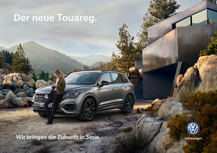 Uwe Duettmann For Vw Der Neue Touareg Car Advertising Design
