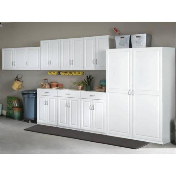 Diy Garage Storage Cabinets, White Melamine Garage Storage Cabinets