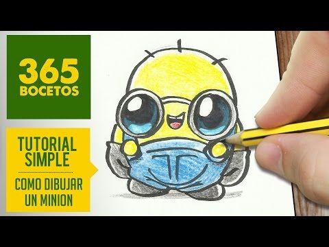 Como dibujar un minion kawaii