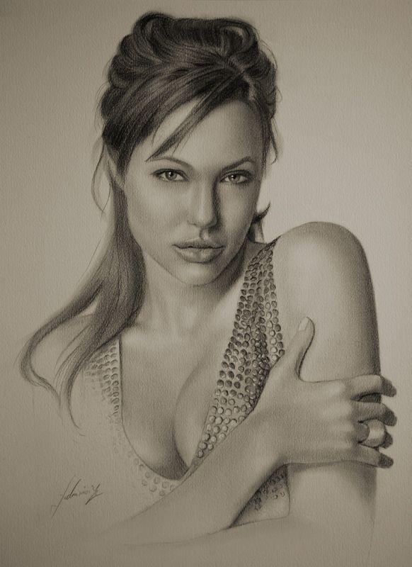 Pencil Portrait - Angelina