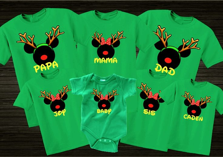 """Disney Christmas Reindeer Family VacationT Shirts """"Set Of 8'(Choose Your Name) Logan's Locker Layla's Runway specializes in creating unique personalized apparel and accessories with a great look for your little boys or girls of all ages. You can email me regarding quantity and delivery date."""