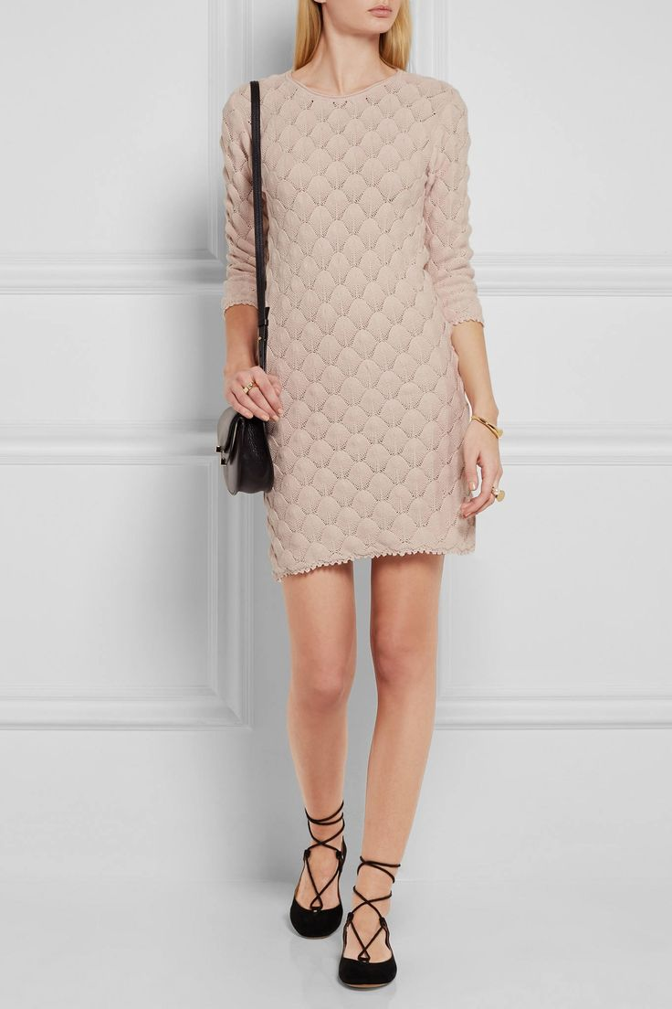 Pink See By Chloé Crocheted Cotton Mini Dress5