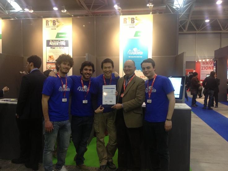 @wanderio_ e Wins Lamarck Prize at #SMAU2013 #wanderlust #R2BLazio #Unindustria #startup #travel #innovactionlab