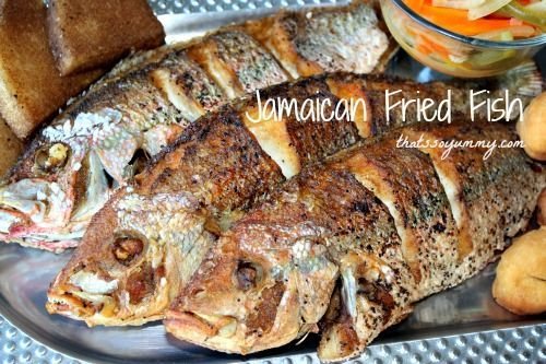 Jamaican Fried Fish by @thatssoyummy