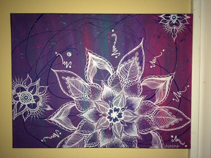 """Confetti Mandalas/multicolored/pink/purple/teal/12""""x16"""" canvas by CLoTheArtist on Etsy"""
