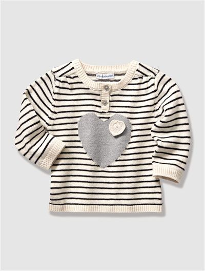 Camisola em tricot fantasia, para bebé menina #camisolas #bebe #vertbaudet #outonoinverno1516 #fw1516 #modacriança