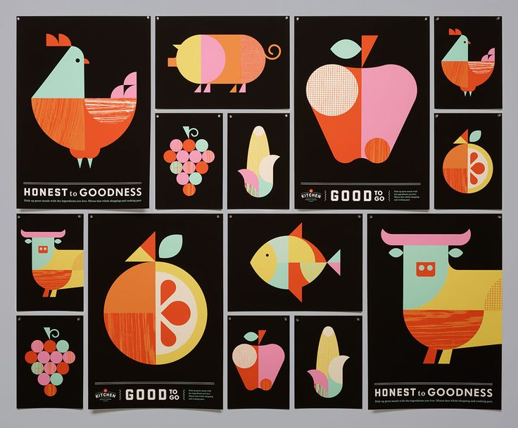 The Kitchen is the prepared-foods division of Whole Foods Market. Moniker teamed up with San Francisco-based Rubber Design to create a visual identity system that spanned everything from identity and packaging to custom illustration and signage.